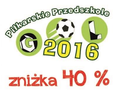 Piłkarskie Przedszkole Gol 40 %