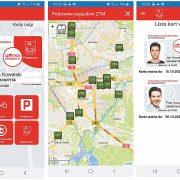 Obraz zawiera widoki ekranu mobilnej wersji karty